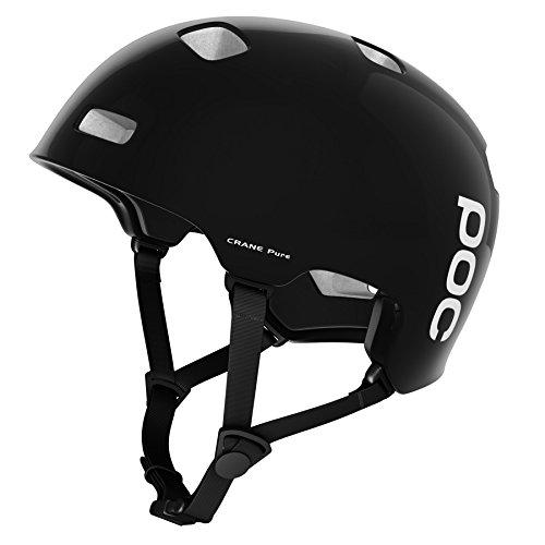 POC Crane Pure Unisex Helm, Uranium Black/Hydrogen White, XL (59-62 cm)