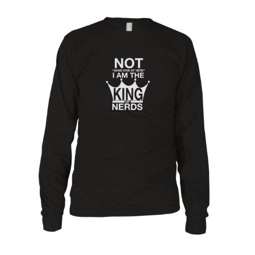King of Nerds - Herren Langarm T-Shirt Schwarz