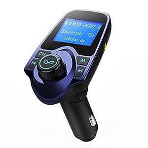 Trasmettitore FM Bluetooth Mpow, FM Trasmettitore Bluetooth Radio Receiver Adattatori Vivavoce Car Kit Per Bluetooth, Scheda TF, USB Port, Micro SD Card, U Disk, Cellulari iPhone Huawei, Mp3 Mp4 Tablet Portatile, Altri Dispositivi Bluetooth
