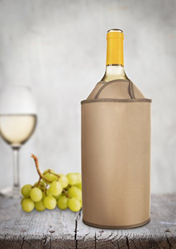 Vacu Vin 38704606 Aktiv Kühler exklusiv  Flaschenkühler, Kunststoff, braun