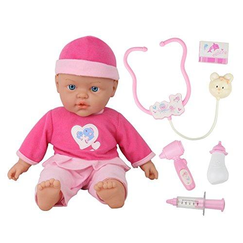 Jerryvon toys Bambola Realistica Bambolotto Bambola Che Piange 40 CM Kit Dottore Giocattolo Kit Medico Per Bambini 2 3 4 5