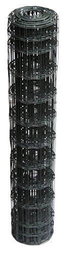 Schweißgitterzaun als Gartenzaun Wildzaun Gitterzaun in grau anthrazit 1,0 m - 1,5 m hoch metall Zaungitter Zaundraht Gitterdraht Drahtgitter Maschenzaun (1,0 m hoch 25 m lang)