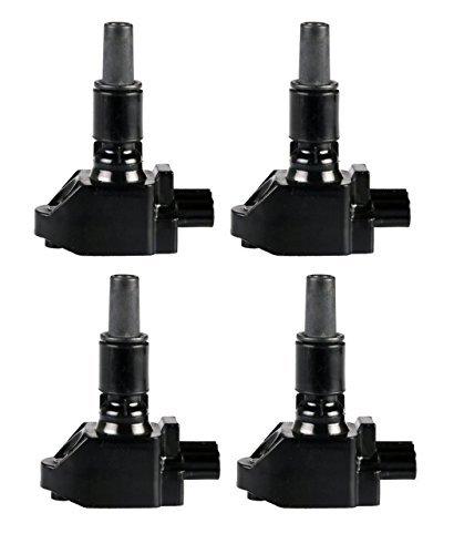 Preisvergleich Produktbild ENA Set of 4 New Ignition Coils for Mazda RX-8 R2 1.3L Compatible with C1459 Uf501 5c1450 N3H1-18-100B-9U N3H118100B N3H118100B9U by ENA