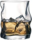 Bormioli Rocco Sorgente Whisky Glasses Set of 2 420ml Unique Design