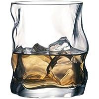 Bormioli Rocco Sorgente Whisky Glasses Set of 2 420ml Unique Design