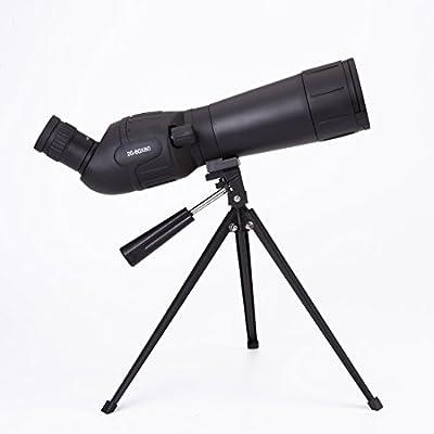 sunfreeall 20-60x 60Zoom catalejo con trípode bolsa de transporte para observación de aves de caza Camping, 45grados ocular en ángulo, negro