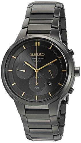 Seiko Herren-Armbanduhr Chronograph Quarz Edelstahl SSC441