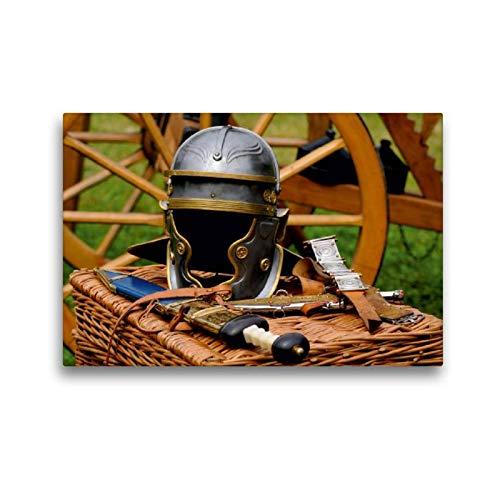 CALVENDO Premium Tela Tessuto 45 x 30 Orizzontale Motivo caschetto da Cavaliere Iagine su Telaio su Vera Tela Stampa su Tela Kunst Arte