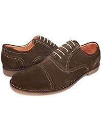Don Luca London - Zapatos Planos con Cordones de Ante Hombre