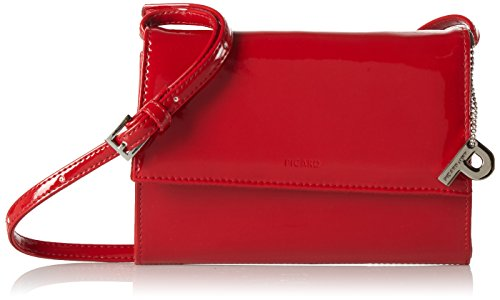 Picard Damen Auguri Umhängetasche, 3x13x19 cm Rot (Rot-Lack)