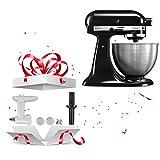 KitchenAid 5K45SSEOB Classic Robot pâtissier Noir 4,3 L...