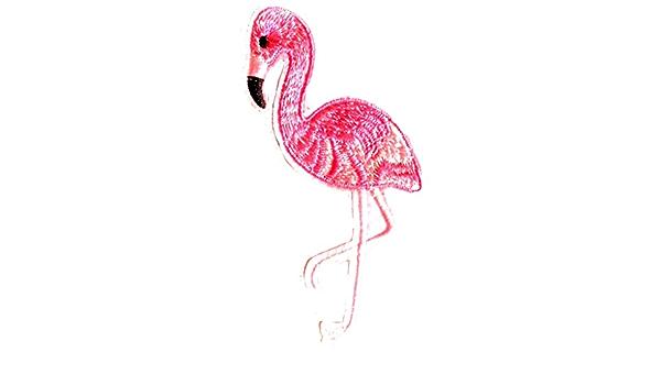 Aufnäher Bügelbild Aufbügler Iron On Patches Applikation Flamingo Tiere 8 8 X 5 Cm Küche Haushalt