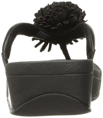 FitFlop - Flowerball Leather Toe-post, Scarpe col tacco Donna Black
