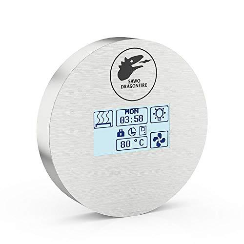 SAWO Dragonfire Firecontrol Steuereinheit für elektrische Saunaöfen, Touchscreen Bedienfeld und Netzteil, Multispannung: entweder einphasig oder dreiphasig; für Saunaofen mit Dampfgarer (Combi)