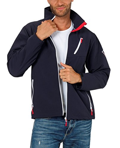 Fifty Five Herren Softshell-Jacke Outdoor-Jacken - Steve navy 4XL - Sommerjacken mit Funkt