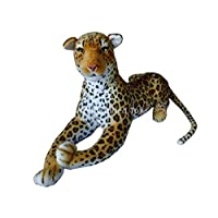 "Deluxe Paws Extra Large Stuffed Leopard Soft Toy Plush 160cm 62"" Realistic"