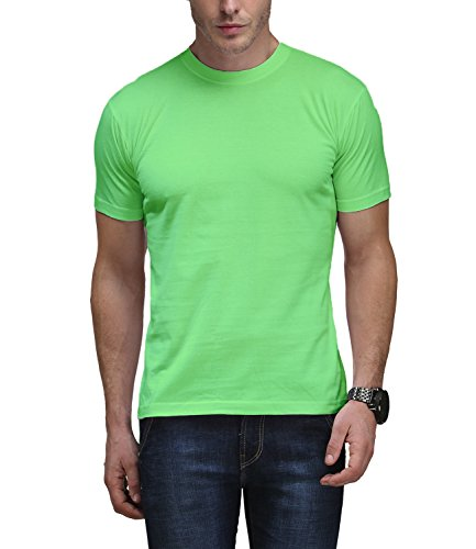 Scott International Men'S Basic Cotton Round Neck T-Shirt (Light Green - Sc-Rn-Bas-Gre-L)  available at amazon for Rs.199