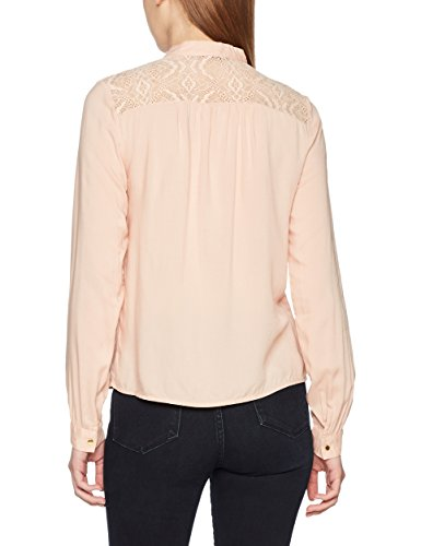 VERO MODA Damen Bluse Vmabela L/S Bow Top Rosa (Rose Cloud)