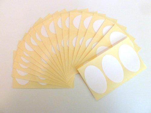 54 etiquetas, 50x30mm ovalado, blanco, extraible/adherencia BAJA código de color PEGATINAS, autoadhesivo Adhesivo Etiquetas Colores