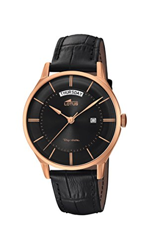 Lotus Watches Mens Analogue Classic Quartz Watch with Leather Strap 18422/2