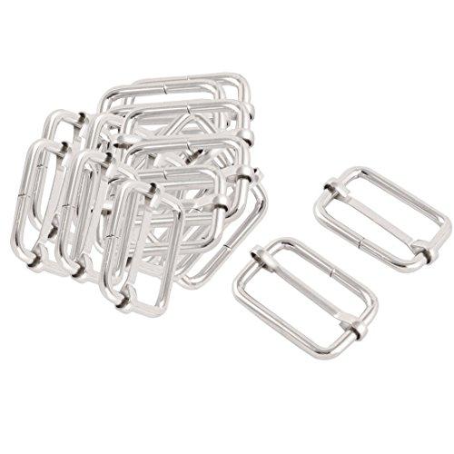 sourcingmap 20 Stk Gepäck Tasche Metall Gurtband Angleichend Tri Gleitlaut schnalle verschluss Silber Ton (Handtasche-reparatur-teile)