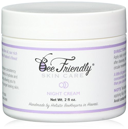 Best Night Cream 100% All Natural & 80% Organic Night Cream By BeeFriendly, Anti Wrinkle, Anti Aging, Deep Hydrating & Moisturizing Night Time Eye, Face, Neck & Decollete Cream for Men and Women by Bee Friendly Skincare (Anti-aging Hydrating Eye Cream)