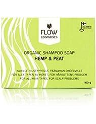 Organic Shampoo Bar Soap for Men, Women, Kids by Flow Cosmetics - Vegan, Cruelty Free Hemp Shampoo for Moisturizing Scalp and Voluminous, Soft Hair - Anti Dandruff Shampoo Bar - Great for Travel