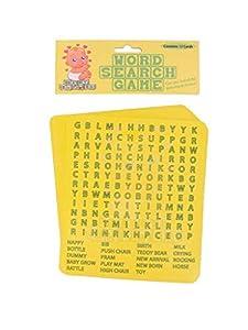 Gifts 4 All Occasions Limited SHATCHI-749 - Juego de búsqueda de palabras para 12 jugadores, multicolor