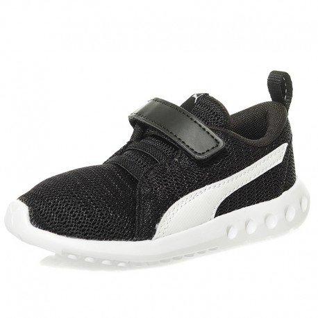 Puma Carson 2 V Inf Baby Laufschuhe Turnschuhe Kinder Sneaker schwarz weiß Größe 19
