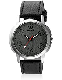 Watch Me Black Dial Black Leather Strap Watch For Boys WMC-005