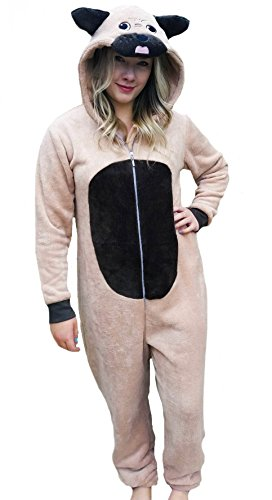 d flaumiger onesie, Pyjama gr 34-36 Mops ()