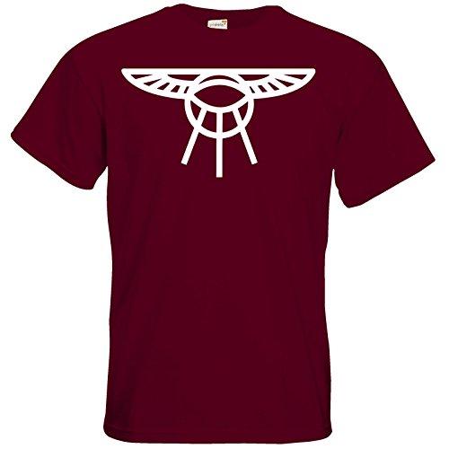 getshirts - Das Schwarze Auge - T-Shirt - Götter - Symbole - Praios Burgundy
