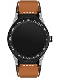 Uhr Tag Heuer Connected Modular sbf8a8001.11ft6110Quarz (Batterie) Titan Quandrante schwarz Armband Leder