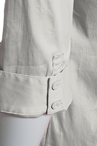 Chemise cintrée classique de la femme coupée stretch Blanc