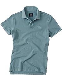 Abercrombie - Homme - Garment Dye Slit Fit Big Icon Polo Top Shirt - Manche Courte