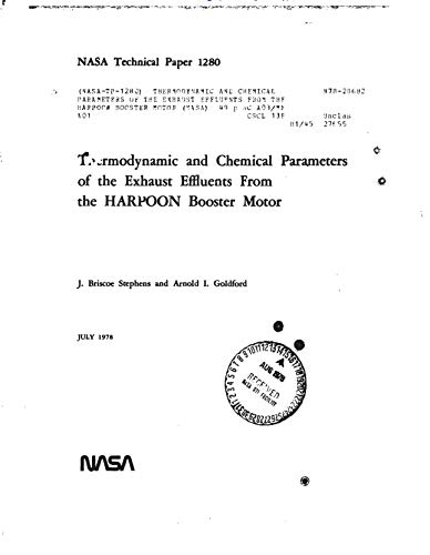 Thermodynamic and chemical parameters of the exhaust effluents from the HARPOON booster motor (English Edition) -
