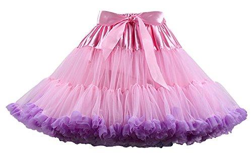 FOLOBE Erwachsene luxuriöse weiche Chiffon Petticoat Tüll Tutu Rock Damen Tutu Kostüm Petticoat Ballett Tanz Rock