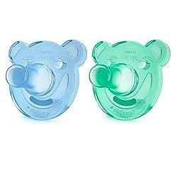 Philips Avent Soothie 0-3 Monate SCF194/01, Doppelpack, Jungen, grün/blau