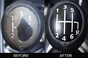 Renault Megane Ii Laguna Espace 6 Schaltknauf Abdeckung Renovierungs Aufkleber Kit Auto