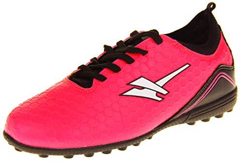 Gola Mädchen Activo5 Astroturf Fußballschuhe Sports Schnürsenkel Turnschuhe Pink und Schwarz EU 39