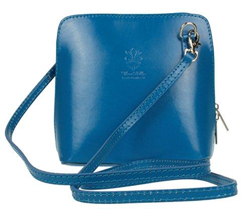 Girly Handbags, Borsa a tracolla donna, Sintetico, rosso, W 17, H 17, D 8 cm (W 6, H 6, D 3 inches)