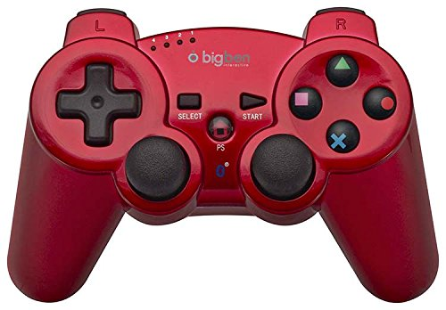 Preisvergleich Produktbild PS3 Bluetooth wireless Controller / Gamepad Metall rot