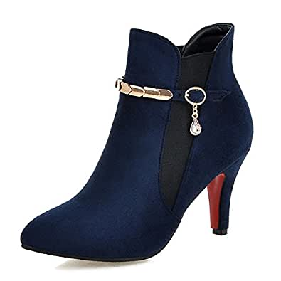 Fashion Heel  Ankle Boots,  Damen Stiefel , Blau - blau - Größe: 34