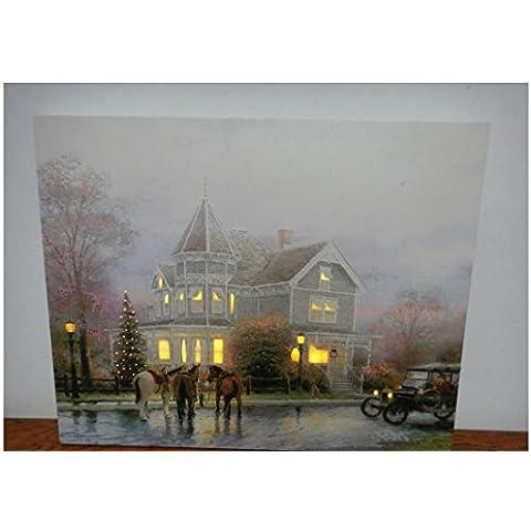 XYXY Festival Home Decor pittura con pittura decorazione paesaggio di giorno di Natale a LED . 40*50