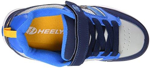 Heelys Jungen Bolt Plus 770566 Lauflernschuhe Sneakers, 36 EU Blau (Navy / New Blue / Lunar Grey)