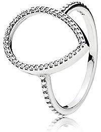 Pandora Women Silver Promise Ring - 196237-56 6AnOI