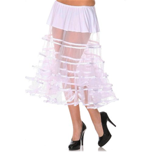 Voodoo Vixen Petticoat SEE THROUGH SKA3142 White