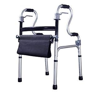 WZHWALKER Gehhilfe Für Ältere Menschen, Gehhilfe Aus Aluminiumlegierung, Vierbeiniges Sitzkissen, Gehhilfe