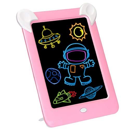 Lopbinte Kinder Erwachsene Magie Rei? Brett 3D Led Zeichen Anzeige Tafel Künstler Leucht Schablone Tisch Pad Zeichnung Spielzeug Mal Werkzeug Rosa (Anzeige Brett)