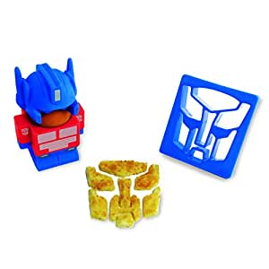 Transformers Optimus Prime Egg Cup and Toast Cutter, Multi-Colour